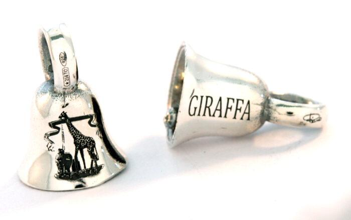 Bead argento 925 campanina della Giraffa